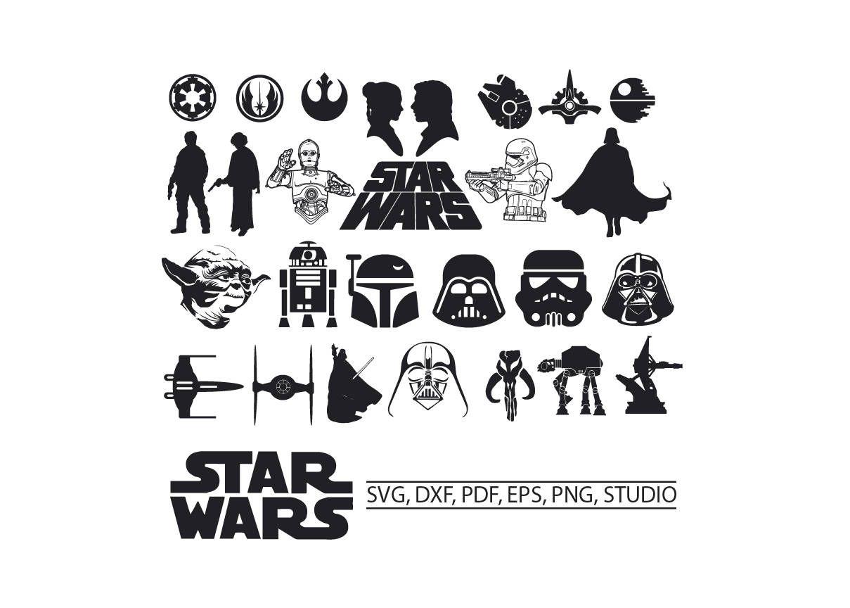 Star Wars SVG Star Wars Clipart SVG Star wars for