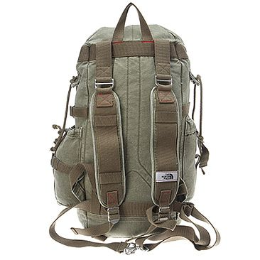 f61e35e86a The North Face Canvas Pack | Men's - Cargo Green - FREE SHIPPING at  OnlineShoes.com