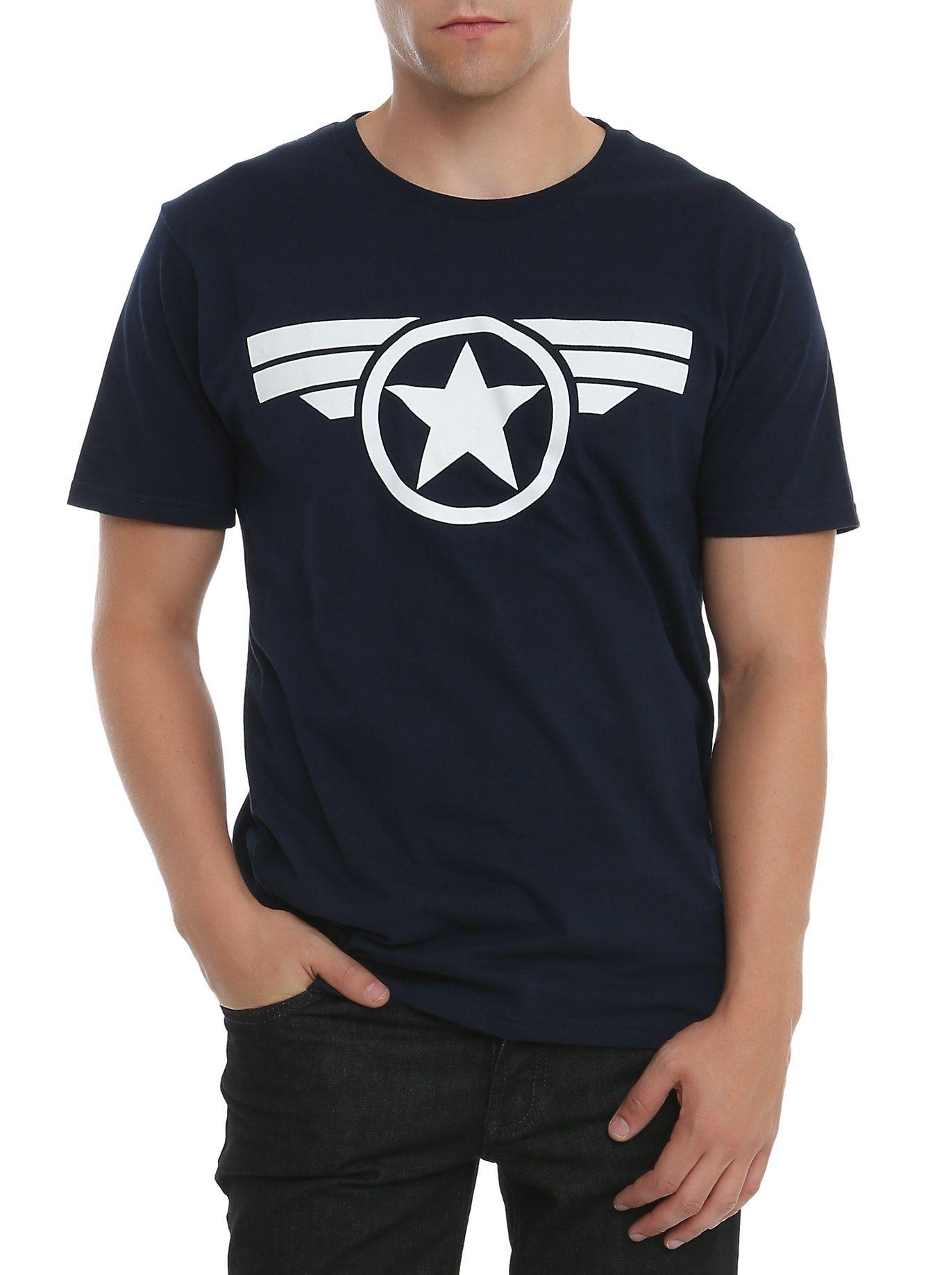 e902b2ea Marvel Captain America: The Winter Soldier Logo T-Shirt | Hot Topic