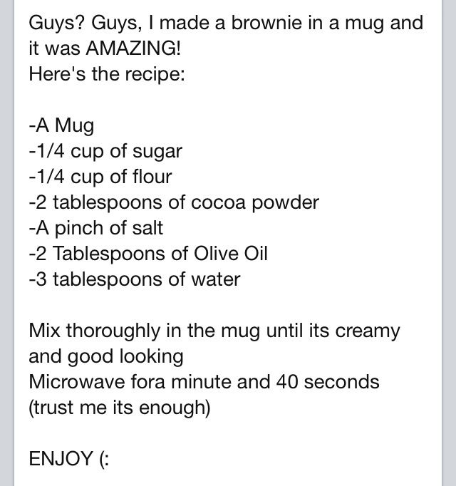 Brownie in a Mug : My Older sister just made this Amazing brownies in a mug and its Heavenly! This is the Best!