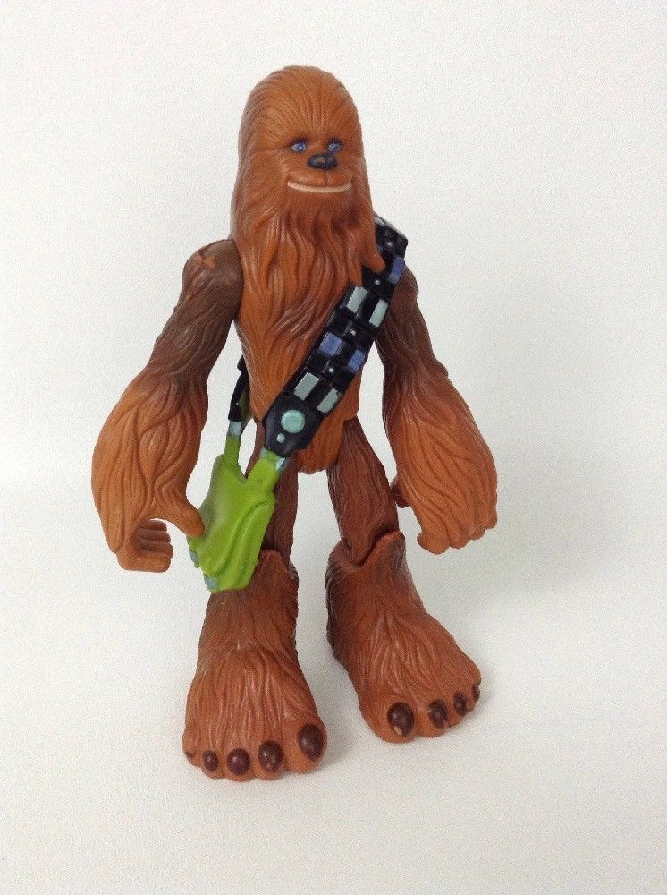 "Hasbro 2004 Jedi Force Star Wars 7"" Chewbacca Wookie Chewie Toy Action  Figure  Hasbro b7abc8feb6dd"