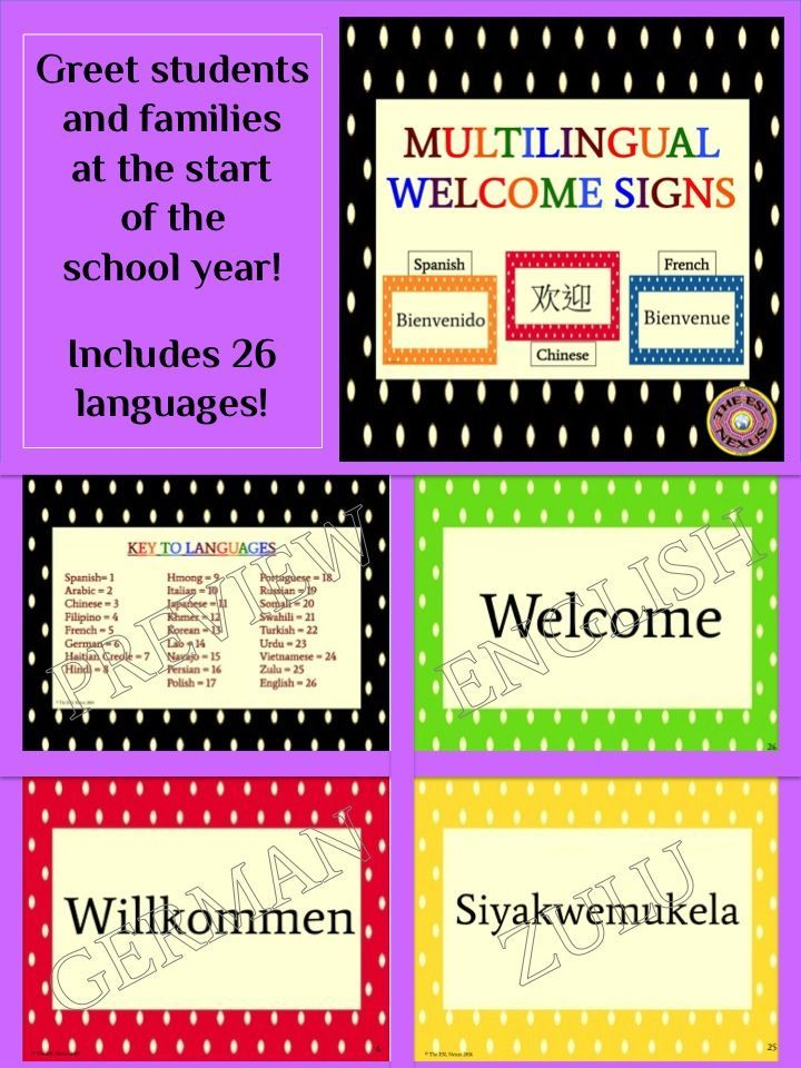 Multilingual welcome posters for classroom decor polka dot theme multilingual welcome posters for classroom decor polka dot theme fandeluxe Images