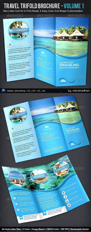 Travel TriFold Brochure Volume 1 GraphicRiver Travel