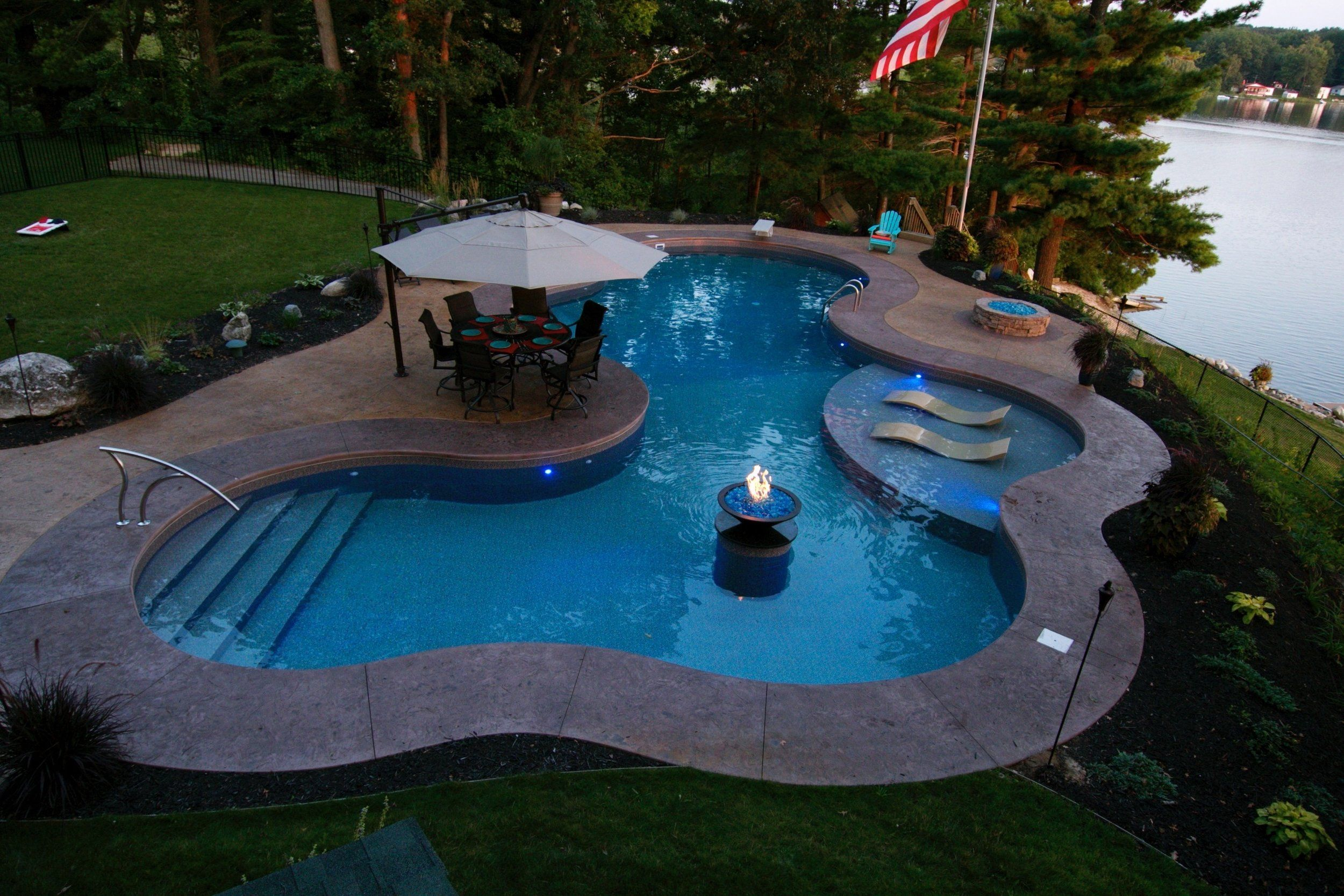 Custom Free Form By Fox Pools Cantilever Coping Edge Colored