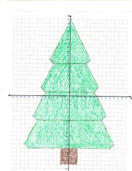 Christmas Tree Graph Christmas Math Christmas Math Middle