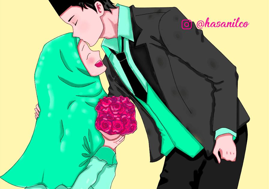 Terkeren 30 Gambar Kartun Hijab Couple di 2020 Kartun