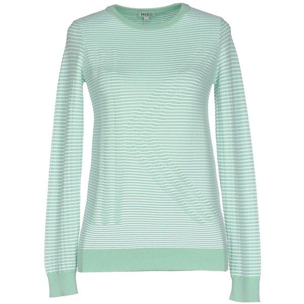 c5b44f46 Kenzo Sweater ($177) ❤ liked on Polyvore featuring tops, sweaters, light  green, kenzo, long sleeve tops, lightweight sweaters, green sweater and  cotton ...