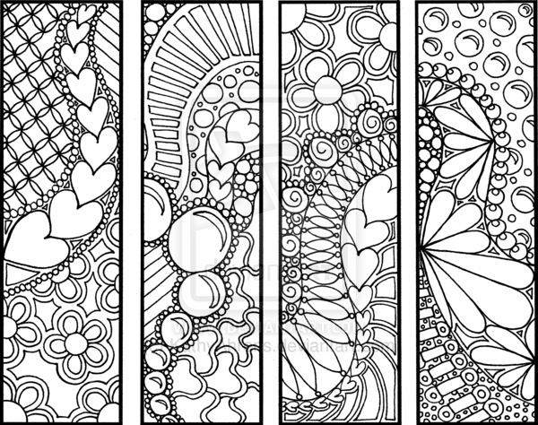 marque page adult coloring pages zentangles pinterest lesezeichen ausmalbilder und. Black Bedroom Furniture Sets. Home Design Ideas