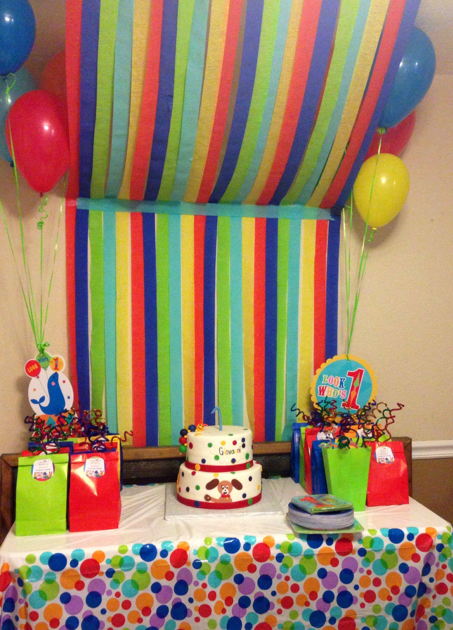 Baby einstein 1st birthday party giovauni 39 s 1st bday for Baby einstein decoration