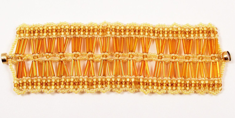 Cluster of Bugle Beads Bracelet