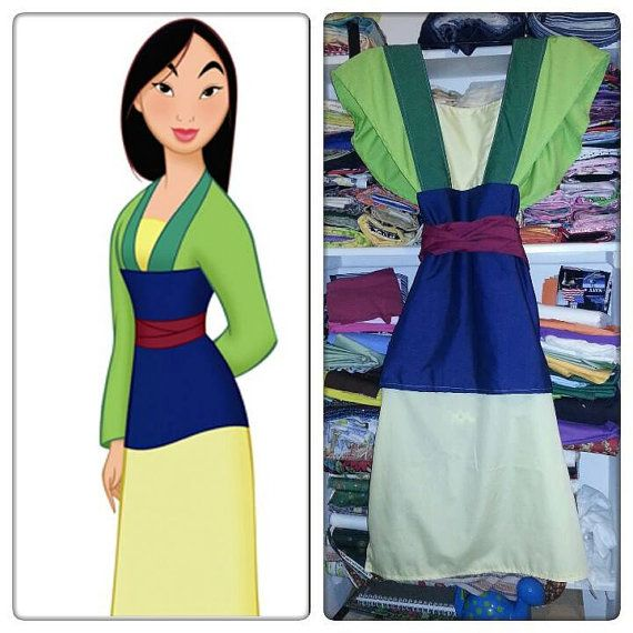 Mulan kimono style adult apron or costume. by PollysAprons on Etsy ...