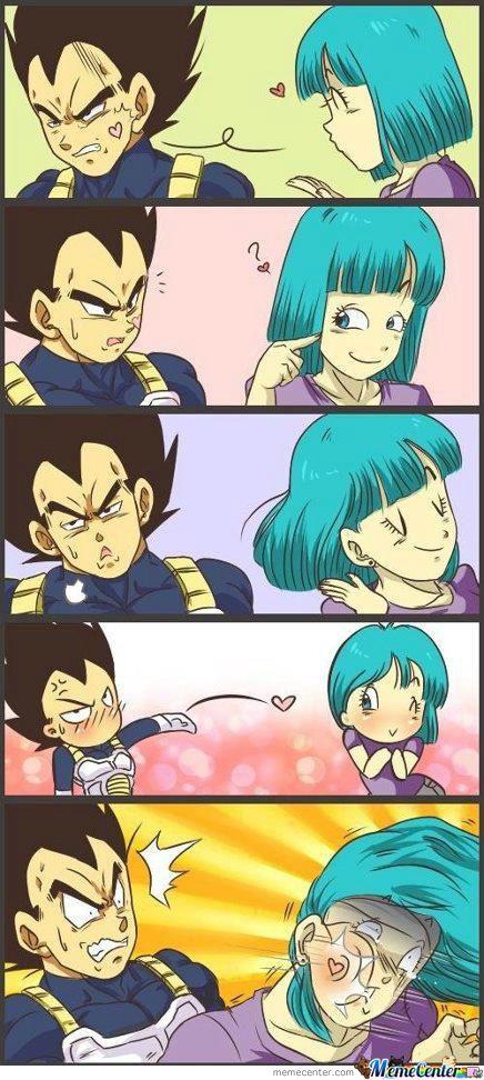Just Saiyan Anime Dragon Ball Anime Vegeta And Bulma