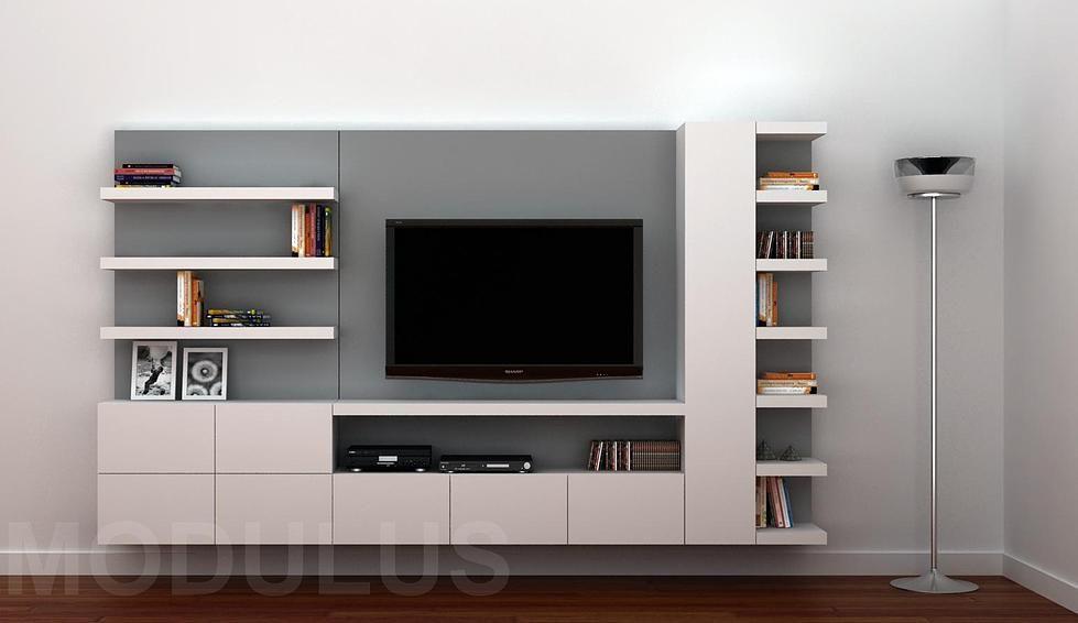 Modulus muebles de dise o wall unit buenos aires mesa for Diseno de muebles para tv modernos