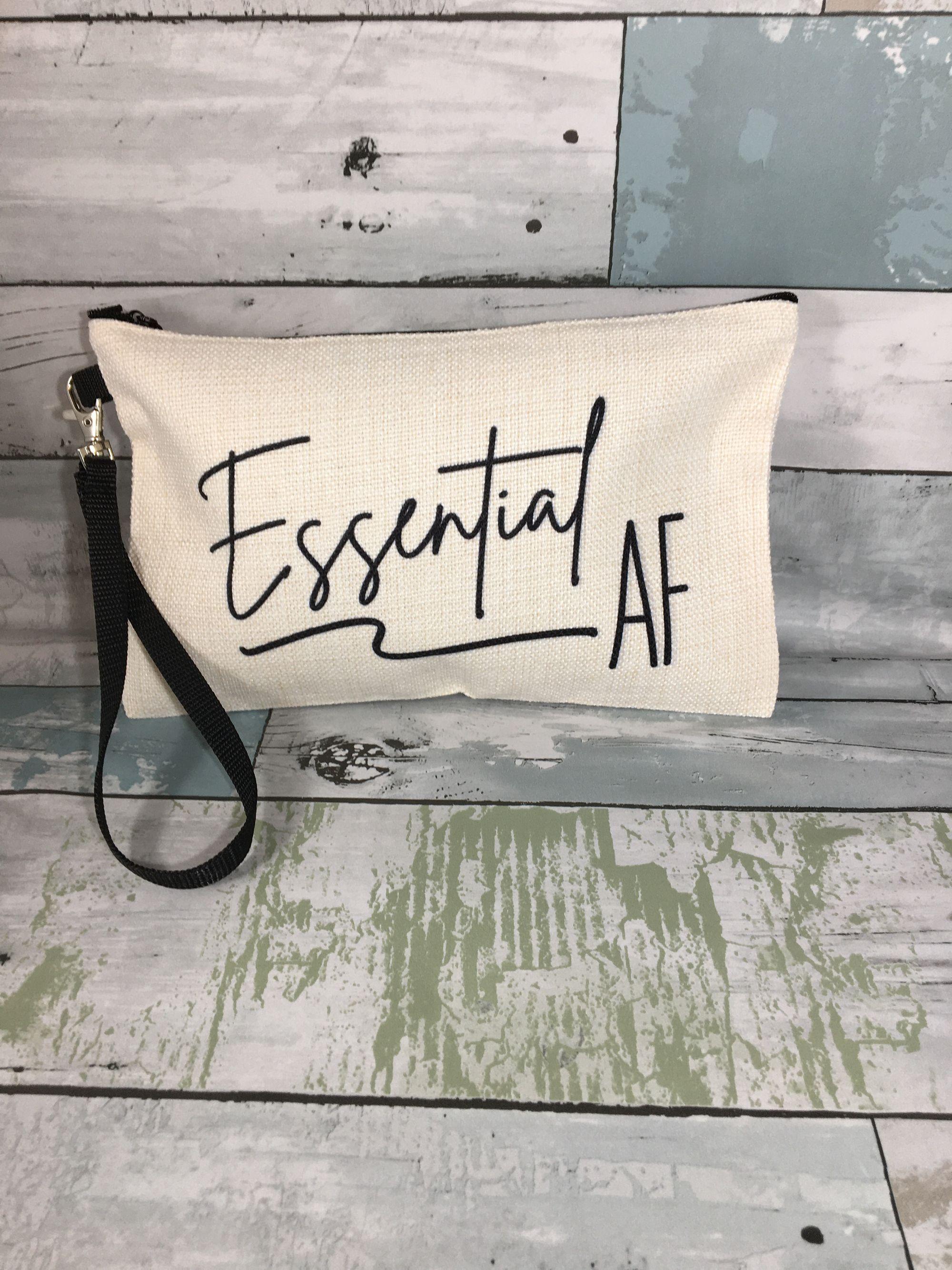 Essential employee appreciation gift, Essential employee thank you gift, Essential AF makeup bag, frontline worker, employee appreciation