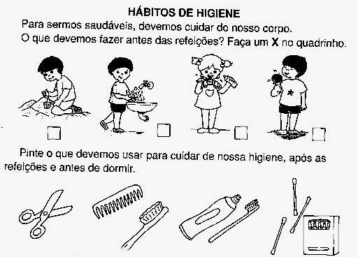 Atividades Sobre Higiene Para Educacao Infantil Em 2020 Educacao