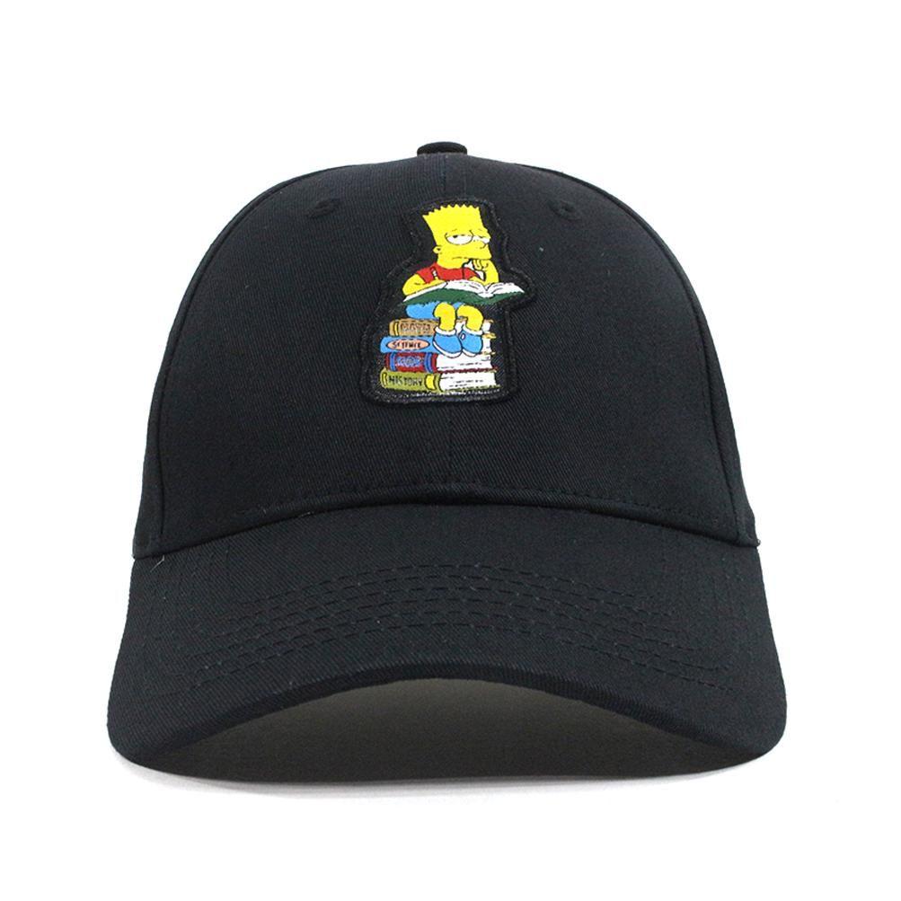 Sprayground structured Dad hats x Simpson Bart Studying Black  a897bf06386