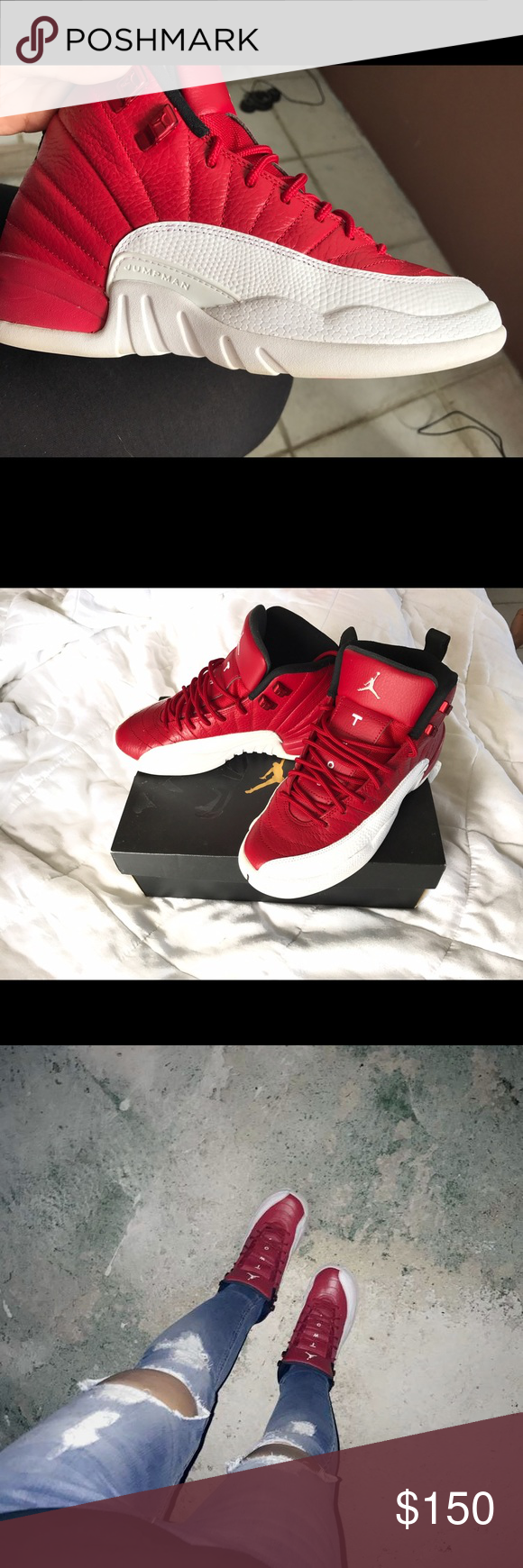 on sale c43c2 90f8f Low price ‼️Jordans 12 gym red 6 kids size for women is a 8 ...