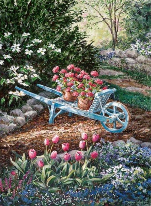 William mangum arte terrazas y jardines varios for Pintura azul aguamarina