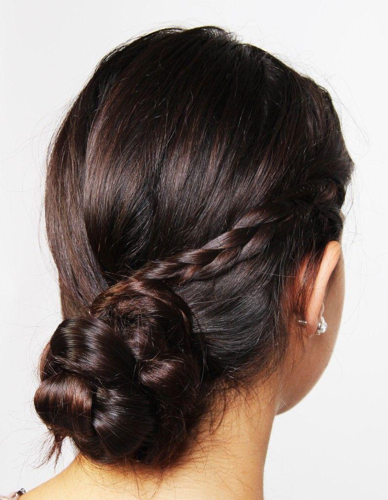 Triple braided bun coif pinterest hair couture hair raising