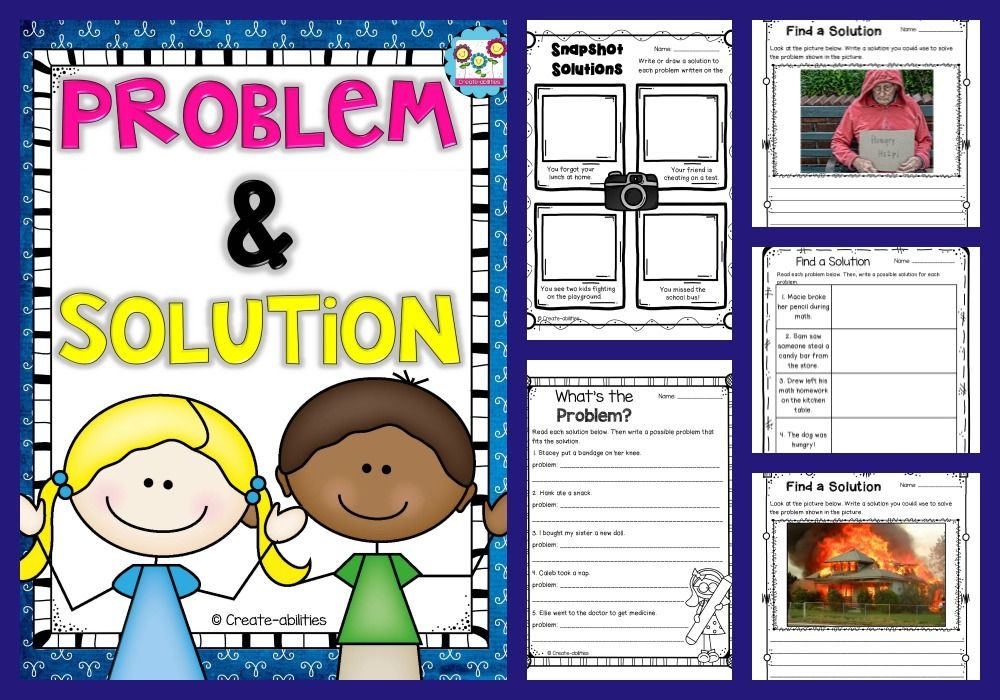Free Problem And Solution Set Problem Solution Activities Problem And Solution 3rd Grade Reading