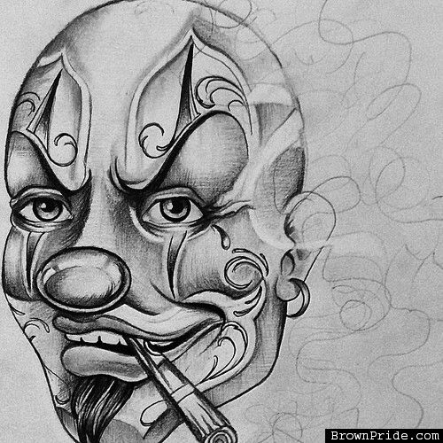 Wicked Joker Clown Chicano Arte And Graphics