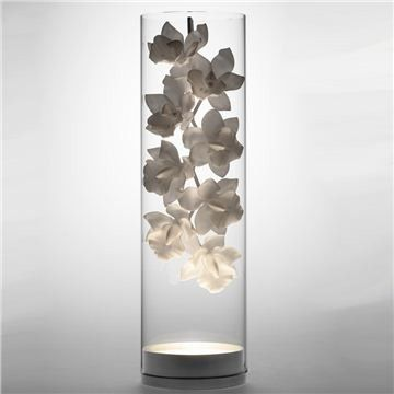 Asian Table Lamps Endearing Jeremy Cole Cymbidium Glass Vessel Lamp  Asian  Table Lamps Design Ideas