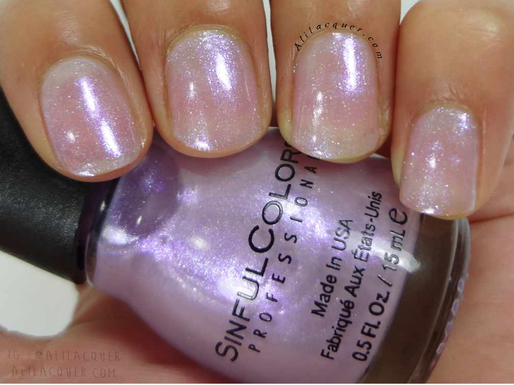 Sinful Colors Sheer Genius, can be layered over other colors ...