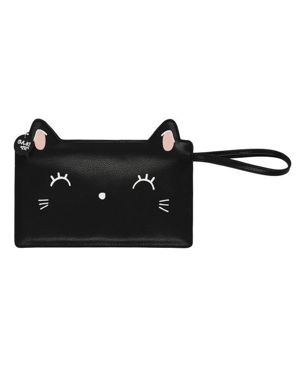 Look at this Black Kitty Clutch on #zulily today!