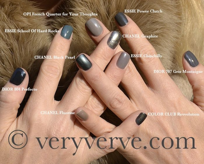 veryverve: Nail polish fw 2011. Grey comparison swatches: Dior 707 ...