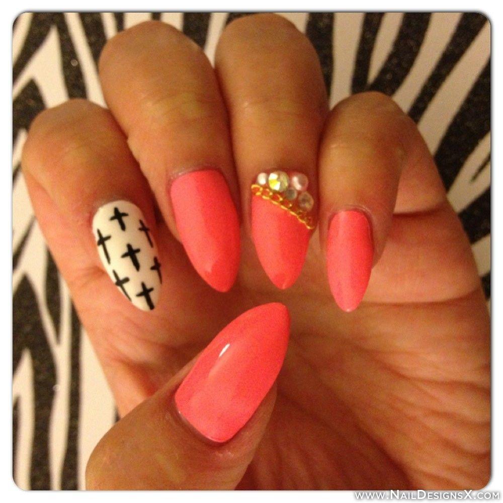pink stiletto nail art » Nail Designs & Nail Art | Trendy Nail ...