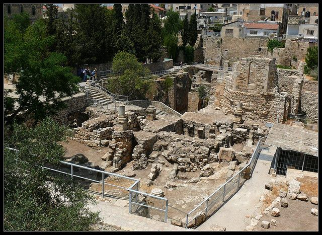 Remains Of The Pool Of Bethesda Israel Travel Bethesda Pool