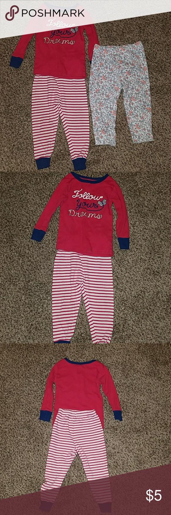 fa7ebad8c Baby girl 18mo pajama lot GUC baby girl pajamas. Red