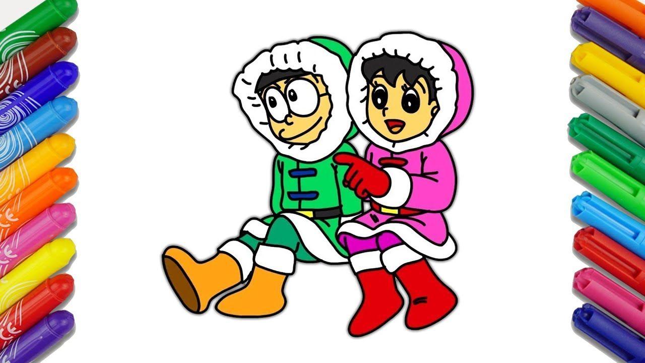 Nobita And Shizuka Drawing And Coloring From Doraemon
