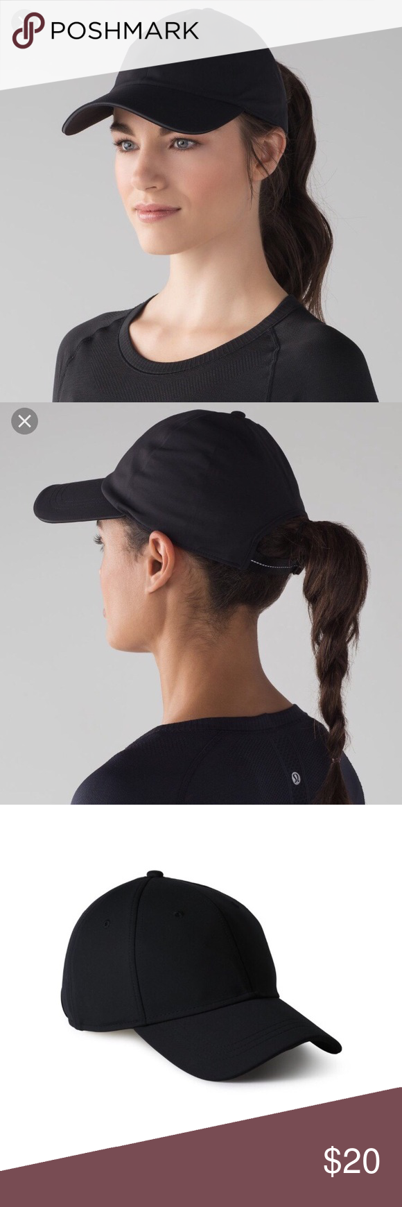 7173447a5bf Lululemon Black Baller Hat Lululemon Baller hat. Adjustable black ball cap  with sweat wicking and breathable fabric. lululemon athletica Accessories  Hats