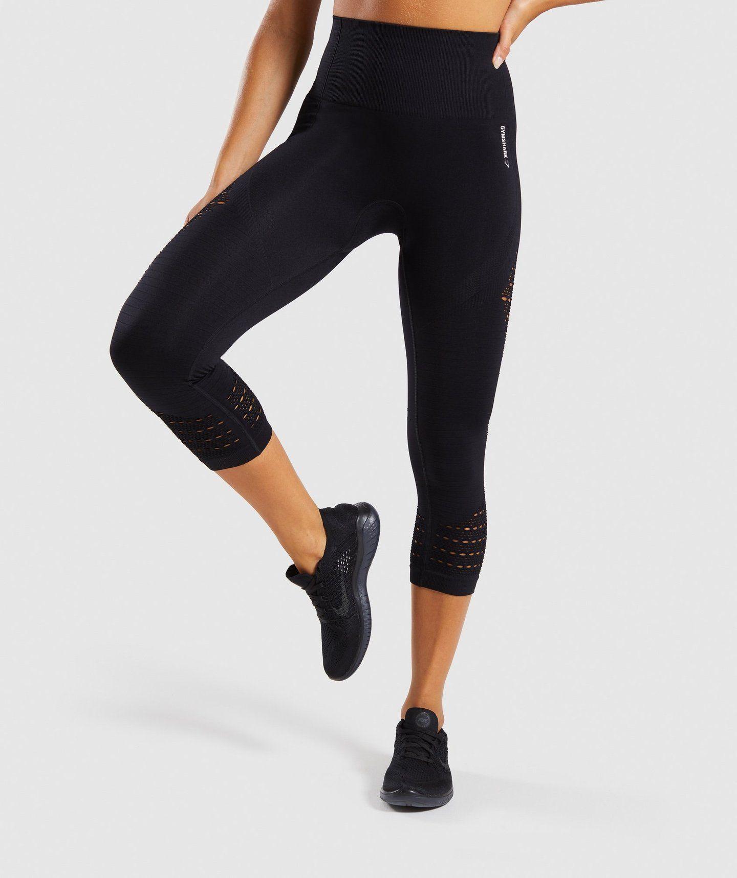 8d5b2b0368dce Gymshark Energy+ Seamless Cropped Leggings - Black in 2019 | Capsule ...