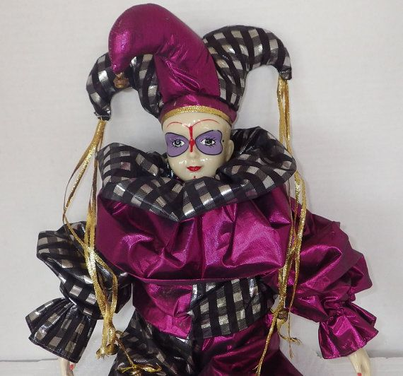 Unique One of a Kind Porcelain Jester Doll of Unknown ...