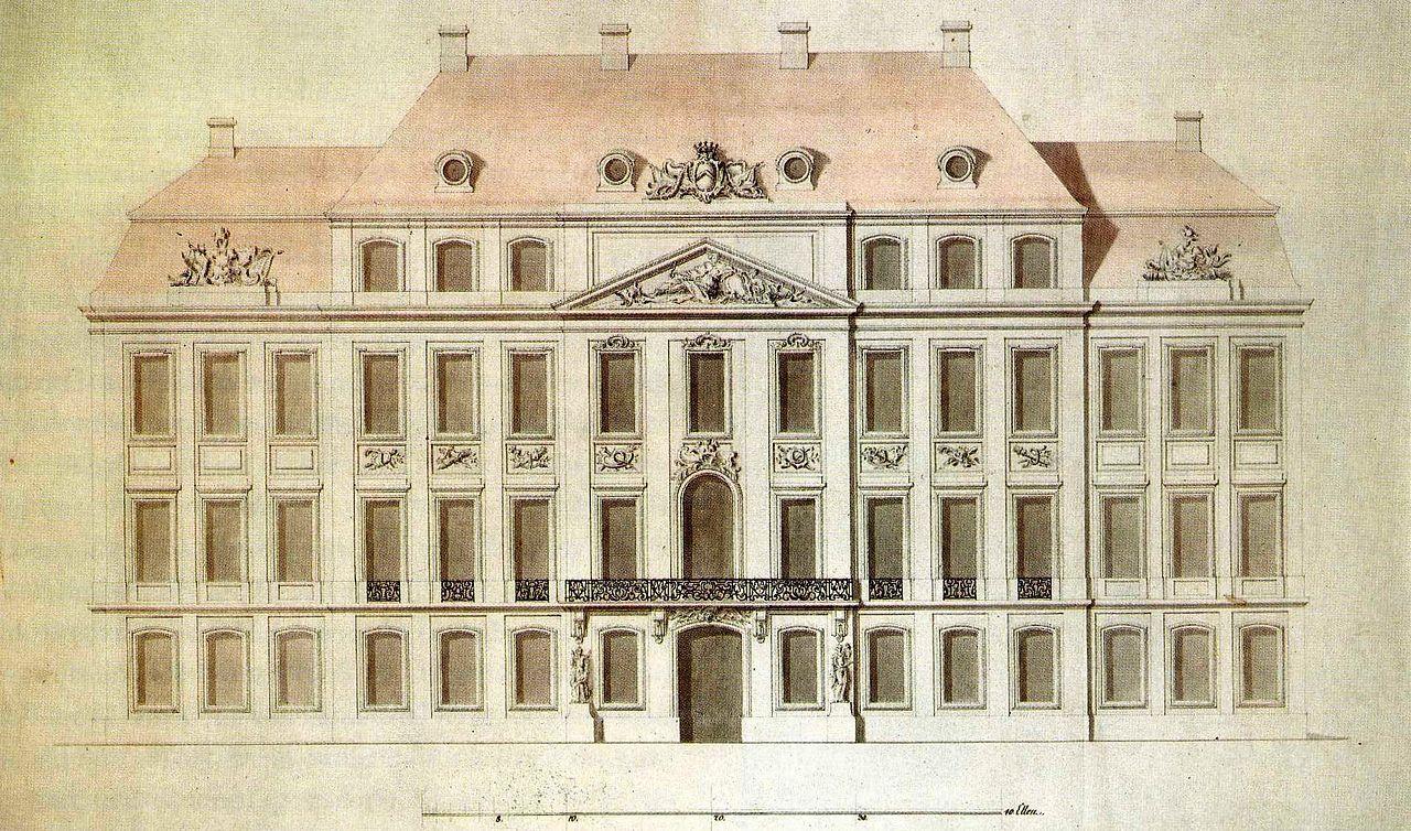 Schloss Pforten Brody Entwurf Von Johann Christoph Knoffel Arquitetura Minecraft