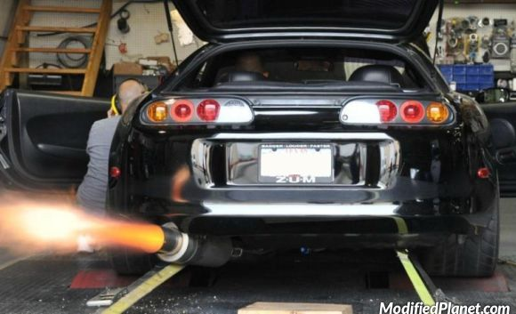 Attractive Backfire Coming Out Of The Exhaust On A Modified 1995 Toyota Supra Turbo  Running On A Dyno. Photo Credit: Unknown Car Photo Submitted By: Unknown  Via ...