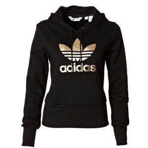 09924ef4945d4 ♡black and gold adidas sweatshirt.