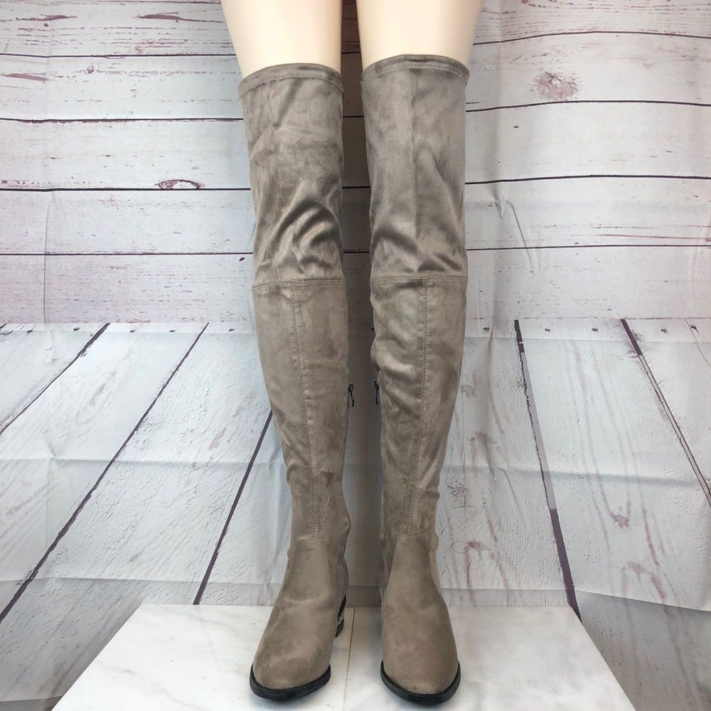 77831b204bd Catherine Malandrino Perse Women s Brown Taupe Over Knee Boot Pearl Heel -  8.5  CatherineMalandrino  RidingBoots  Casual