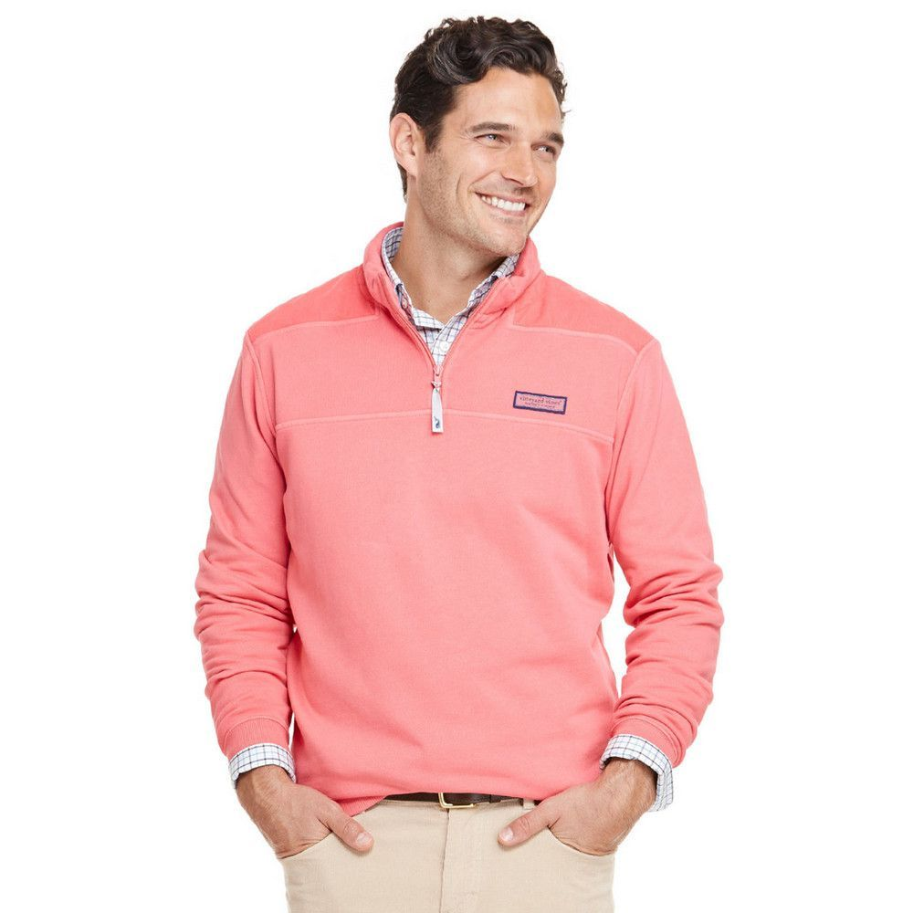 Vineyard Vines Garment Dyed Cord Shoulder Shep Shirt in Jetty Red