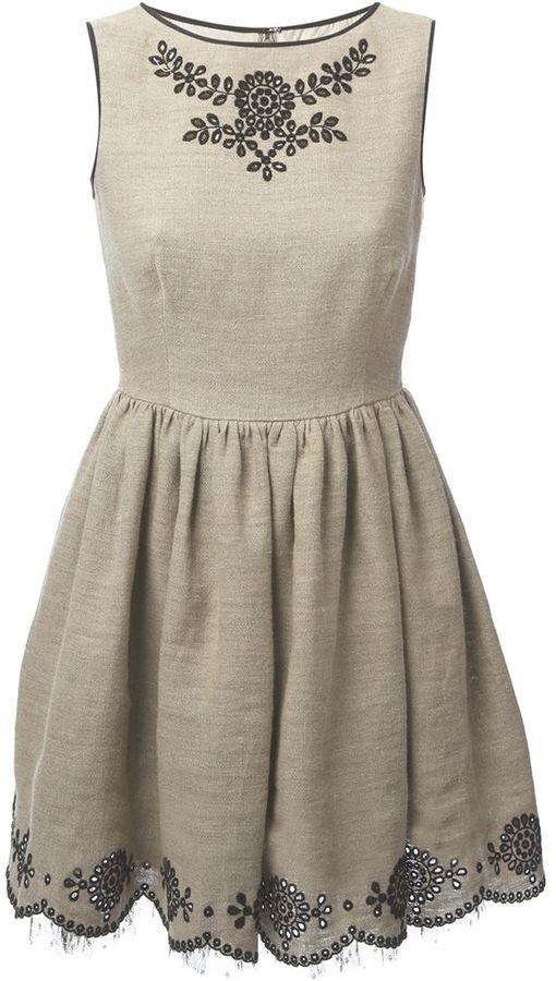52821c946a76 RED Valentino jute dress on shopstyle.com   ladylike   Red valentino ...