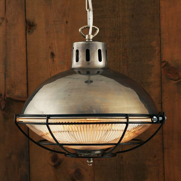 The Mullan Marlow Cage Lamp Industrial Factory Light Manufactured In Ireland This Quality Brass Island LightingDining Room