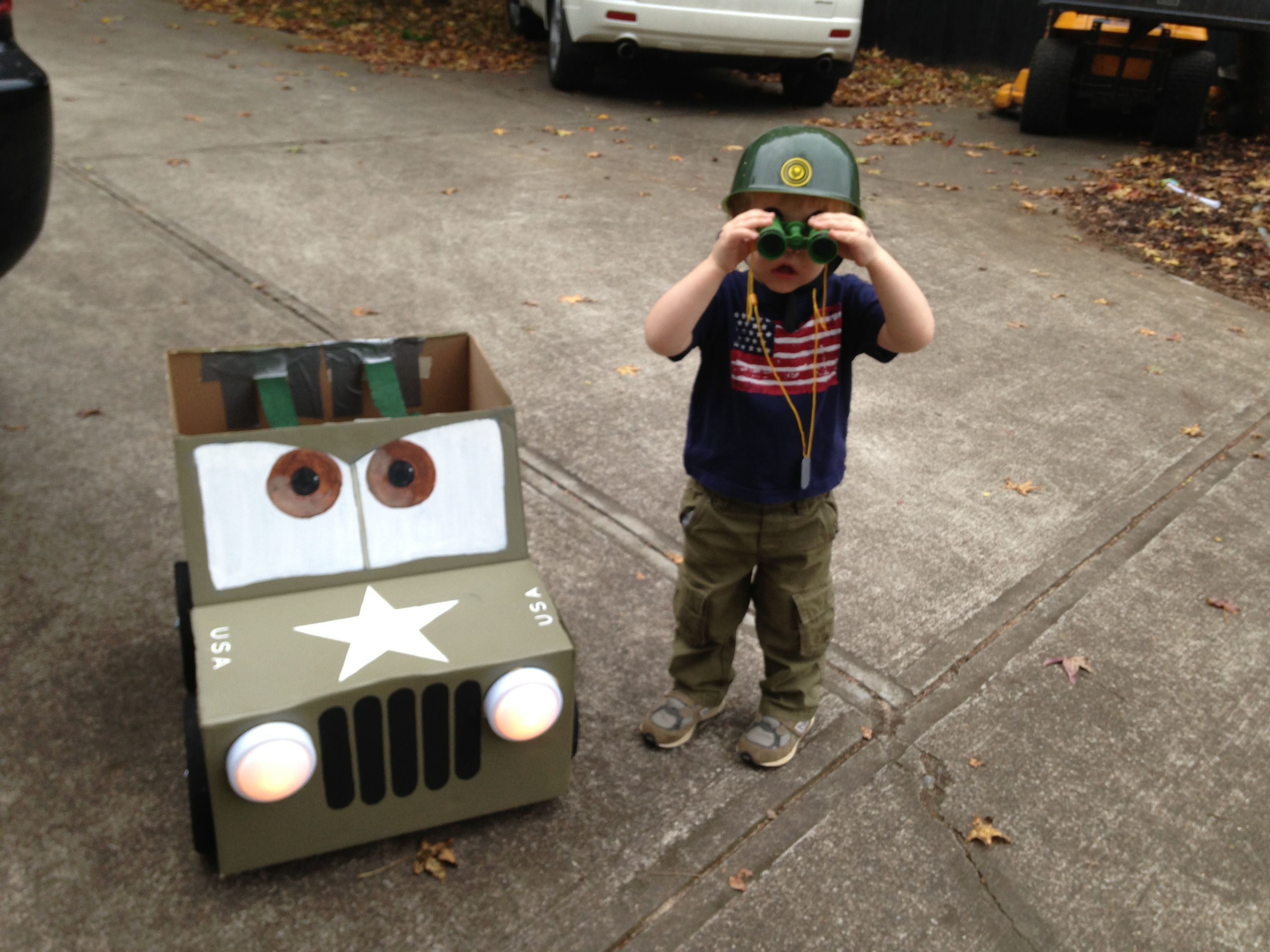 Sarge from Disneyu0027s Cars movie...DIY Halloween costume for my little guy! & Sarge from Disneyu0027s Cars movie...DIY Halloween costume for my little ...