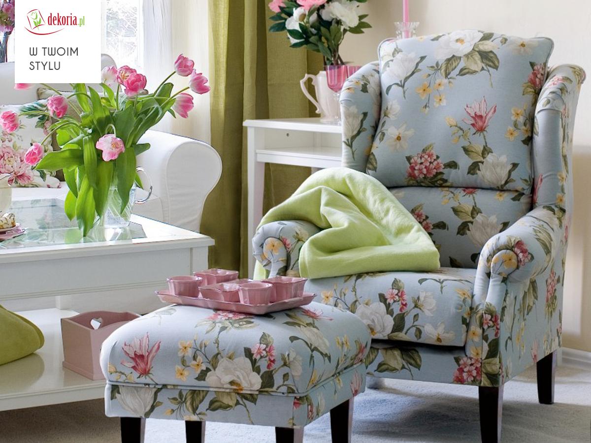 Fotel Krolowej Fotel Chair Queen Kwiaty Flowers Styl Design Idea Salon Livingroom Living Hall Home Decor Family Living Rooms