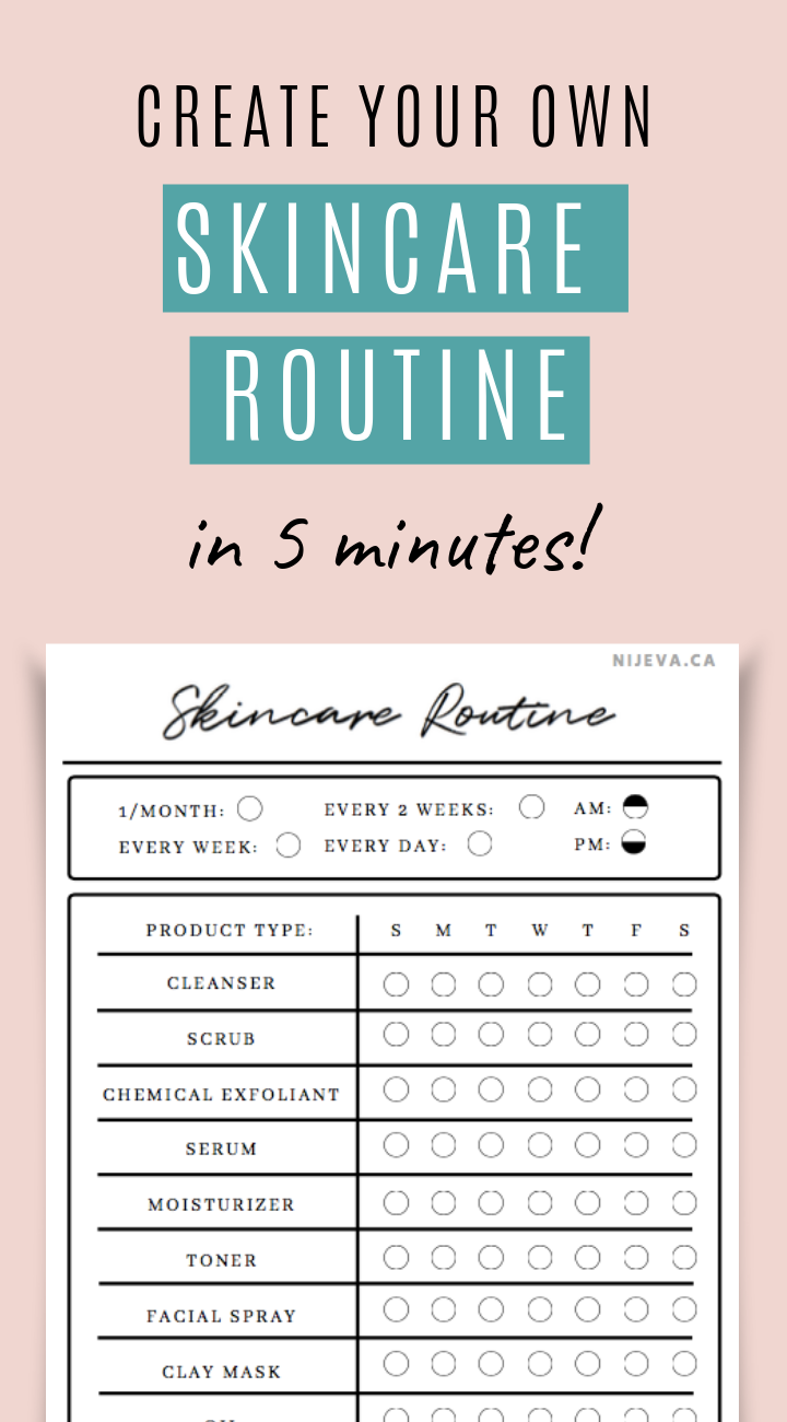 Skincare Routine Printable Daily Beauty Tracker Skincare Printable Bullet Journal Nijeva In 2020 Routine Printable Skin Care Routine Daily Skin Care