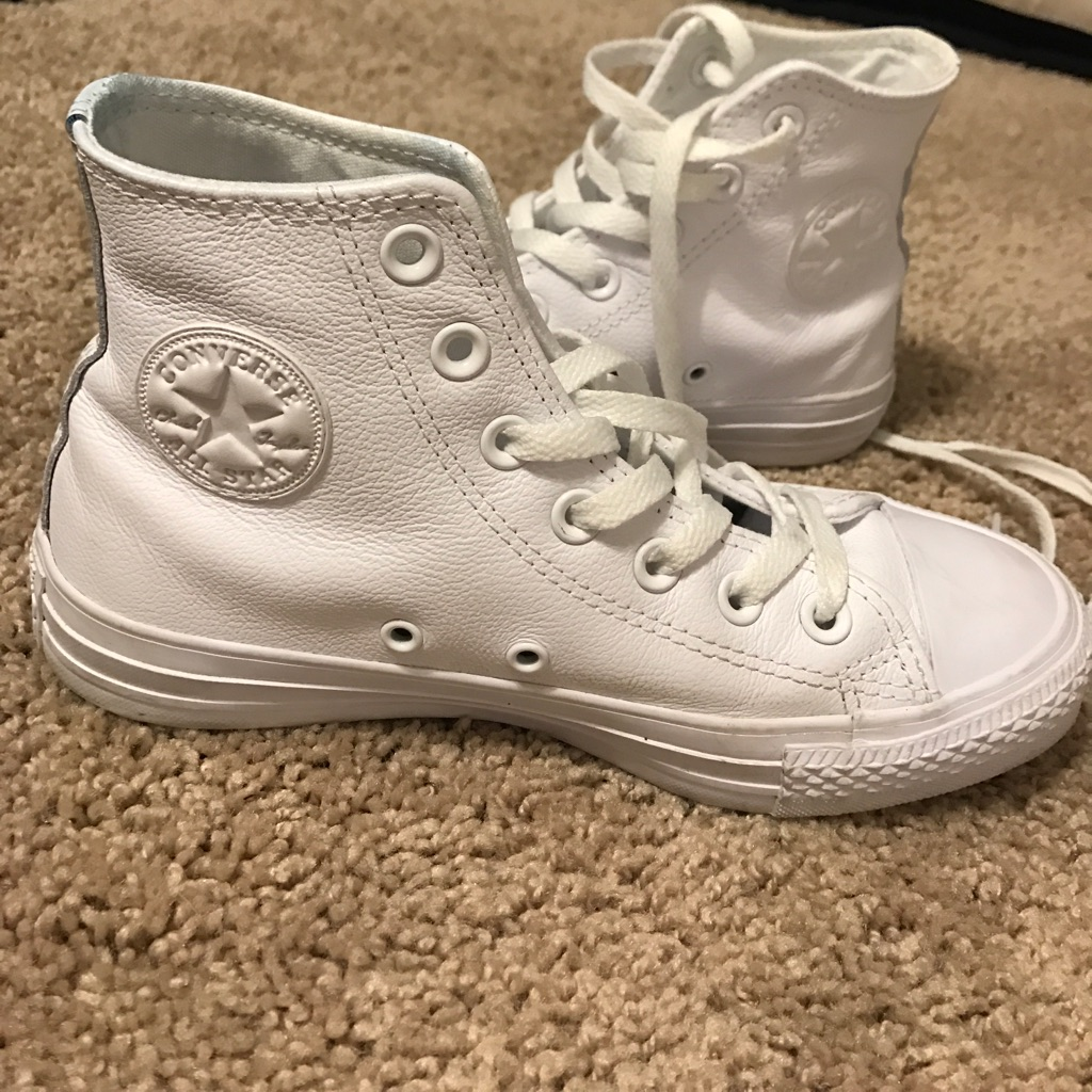 Converse Shoes | All White Leather