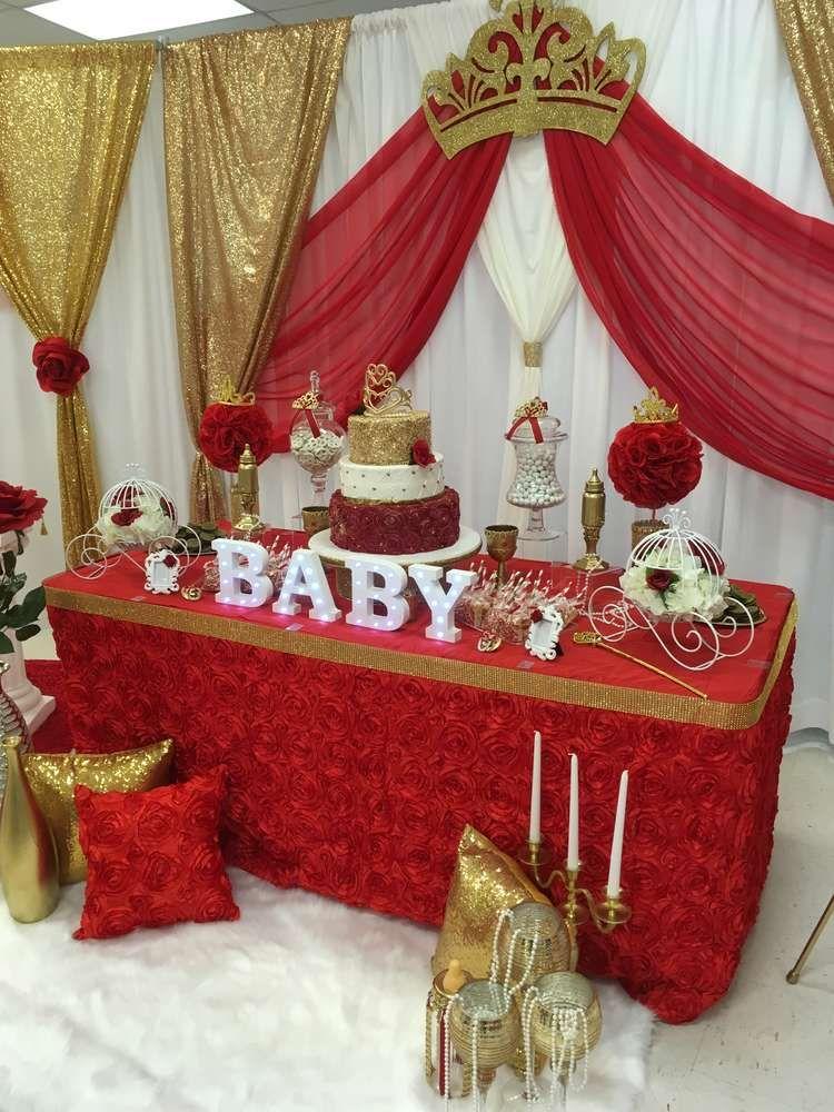 Royal Rose Baby Shower  Catchmypartycom  Royalty Baby Shower, Baby Shower Princess -6167