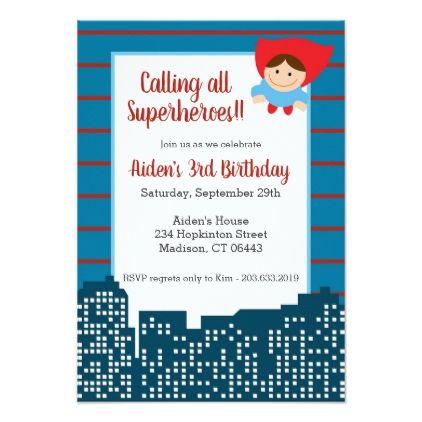 Calling all superheroes birthday party invitation birthday party invitation invitations personalize custom special event invitation idea style stopboris Gallery