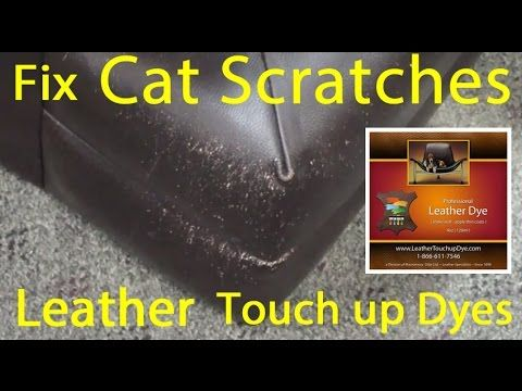 Repair Cat Scratched Leather In Minutes Using This Method. This Will Only  Work Wit GENUINE Leather. Will Not Work On Bonded Or Vinyl Leather.